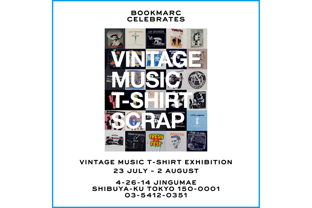 原宿「BOOKMARC」でヴィンテージTシャツ展 音楽プロデューサー/ DJ 井出靖の圧巻コレクション